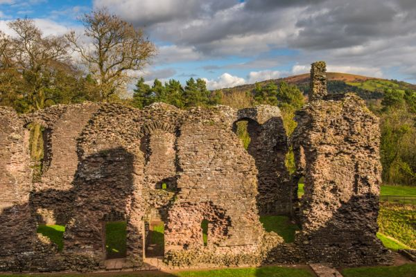 Grosmont Castle photo, Ruins of the hall block
