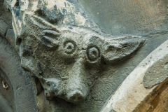 Lincoln Guildhall, Head of a fox on the Guildhall exterior