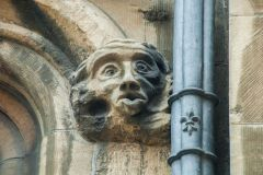 Lincoln Guildhall, Carved head, perhaps a monkey?