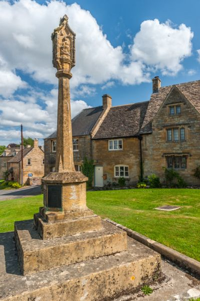 Guiting Power photo, The medieval cross on the green