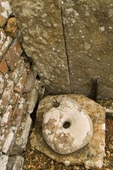A small stone quern
