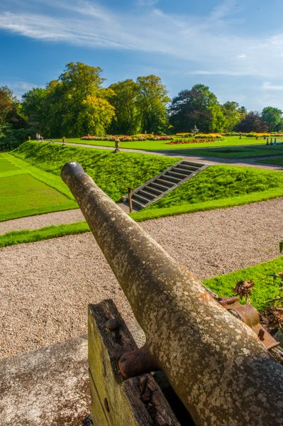 Haddo House photo, A cannon overlooking the gardens