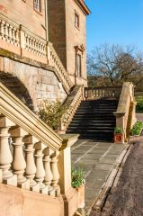 Hagley Hall, Stairs to the first floor entrance