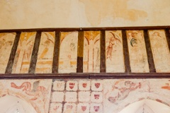 Chancel wall paintings, Hailes, Gloucestershire