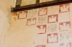 Heraldic wall paintings