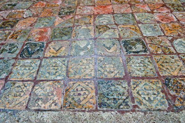 Hailes Church, Gloucestershire Photo, Medieval encaustic floor tiles