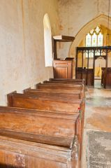 Pre-Reformation box pews in nave