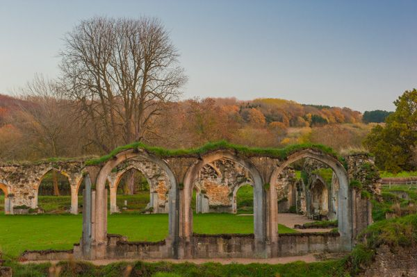 Winchcombe photo, Ruined arches at Hailes Abbey