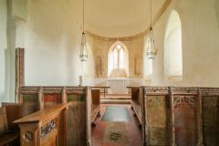 The chancel and medieval screen base