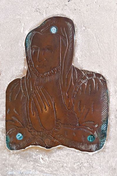 Halesworth, St Mary's Church photo, Late medieval brass