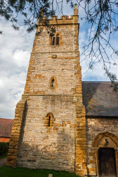 Halford, St Mary's Church photo, The 13th century west tower