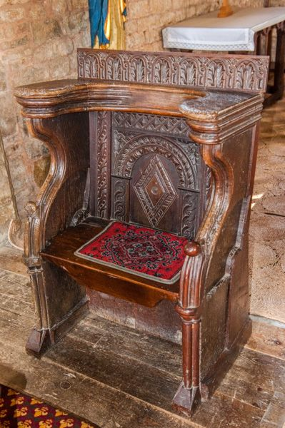 Halford, St Mary's Church photo, 17th century chair