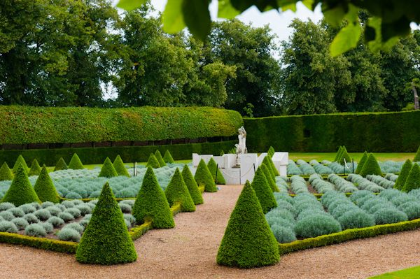 Ham House photo, Formal garden topiary beside the house