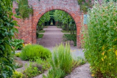 A walled garden archway