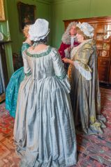 Costumed 'residents' of Hanbury Hall