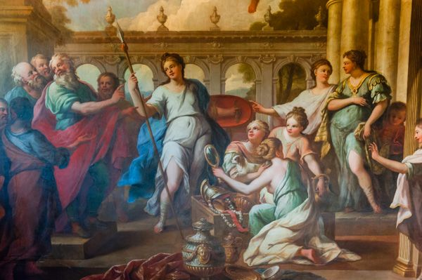 Hanbury Hall photo, Achilles mural on the grand staircase