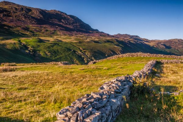 Hardknott Roman Fort photo, Foundation walls