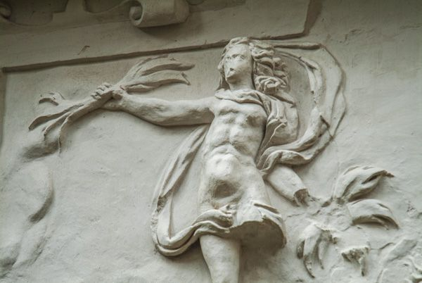 Hardwick Old Hall photo, Plaster panel detail