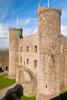 Harlech Castle, Gatehouse from the battlements