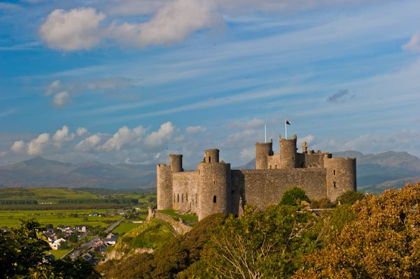 Harlech Castle photo, View from the south