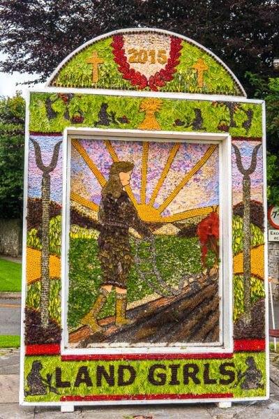 photo, Well dressing example in Hartington