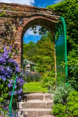 The walled garden entrance