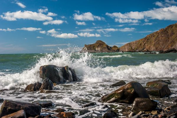 Spekes Mill Mouth Waterfall photo, Just your typical superb coastal scenery!