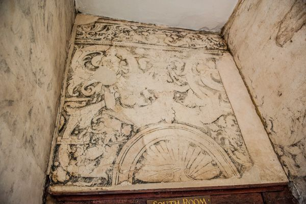 Harvington Hall photo, Mermaid Passage wall paintings