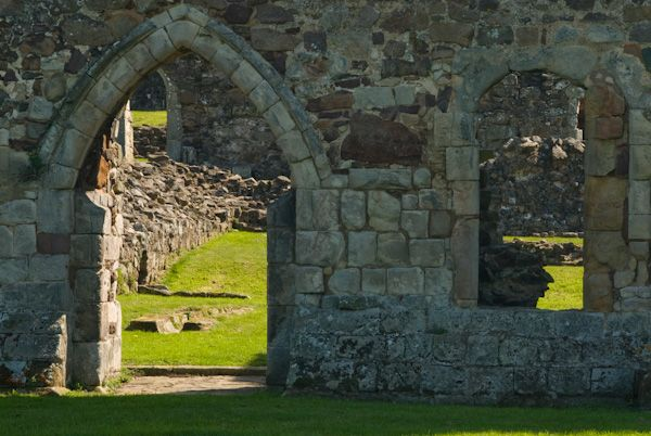 Haughmond Abbey photo, Door to Cloisters