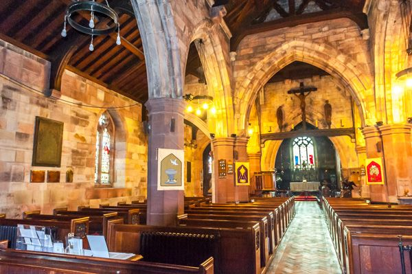 Hawarden, St Deiniol's Church photo, The nave of St Deiniol's