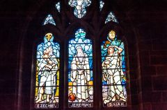 Stained glass window in the Gladstone Chapel