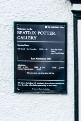 Beatrix Potter Gallery, The National Trust sign by the door