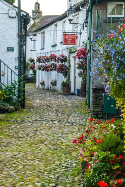 Hawkshead photo, The cobbled lane leading to Anne Tyson's House