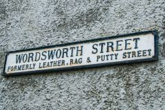 Hawkshead, Wordsworth Street sign
