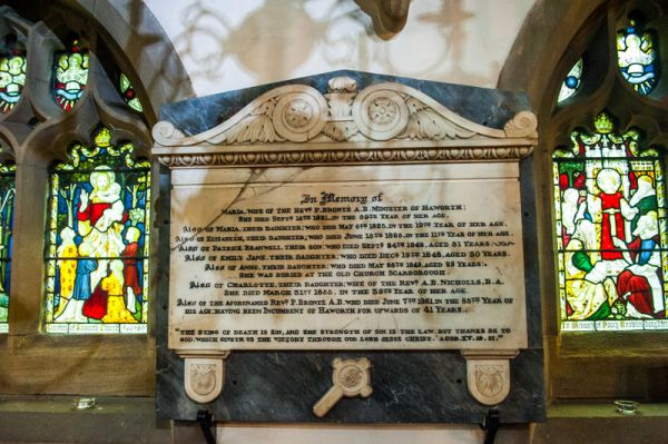 Haworth photo, The Bronte memorial in St Michael's church