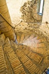 Spiral stair inside the castle
