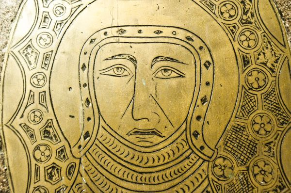 Hedingham Castle photo, Medieval memorial brass