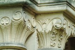 Ornately carved capitals in All Saints