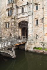 Moat and drawbridge