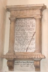 Richard Snelgrove memorial, 1680