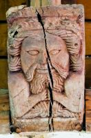 Higham, Suffolk, St Mary's Church, Carved wooden corbel
