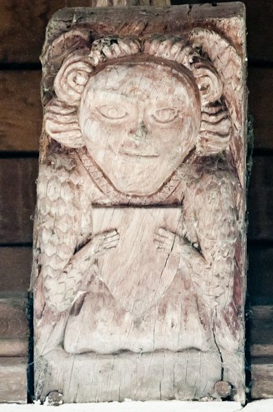 Higham, Suffolk, St Mary's Church photo, Wooden corbel 2
