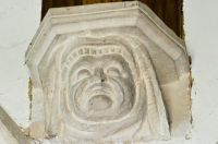 Higham, Suffolk, St Mary's Church, Stone corbel head