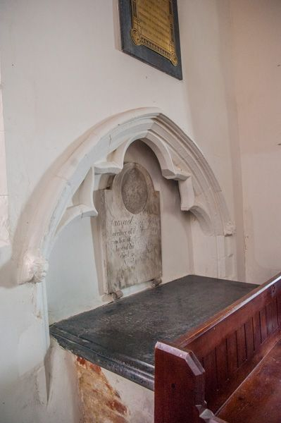 Higham, St Mary's Church photo, 14th century tomb recess