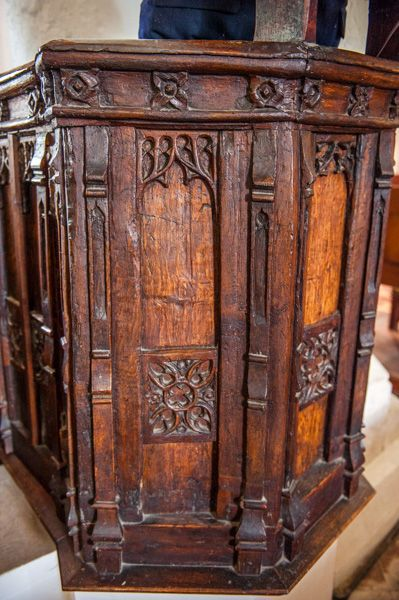 Higham, St Mary's Church photo, The Jacobean pulpit
