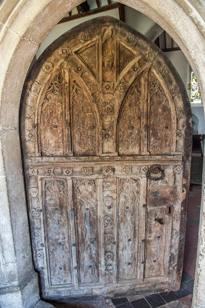 Higham, St Mary's Church photo, The worn 15th century door