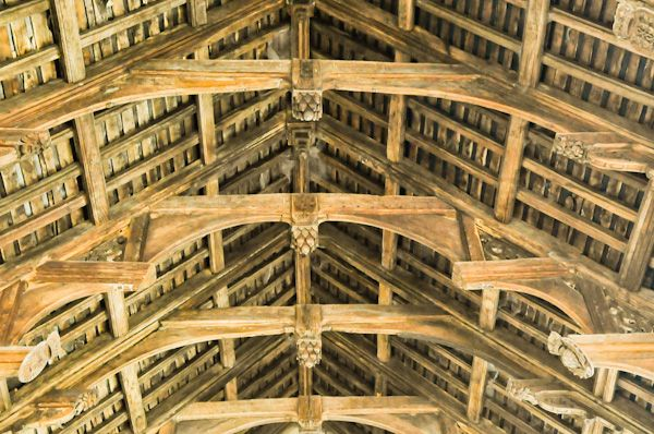 Hitcham, All Saints Church photo, Double hammerbeam roof