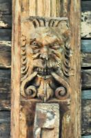 Hitcham, All Saints Church, Green Man carving