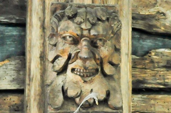Hitcham, All Saints Church photo, Carved face