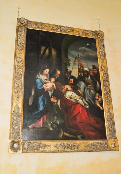 Hitcham, All Saints Church photo, Adoration of the Magi painting